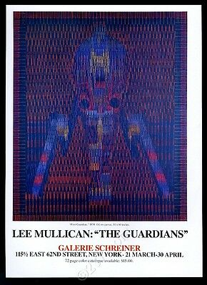 1981 Lee Mullican First Guardian painting NYC gallery vintage print ad