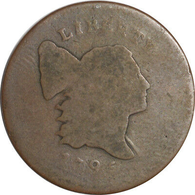 1795 Flowing Hair Large Cent Punctuated Date - Circulated