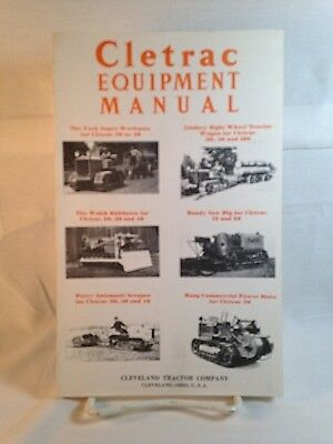 Vintage Road & Other Construction Heavy Machinery Illustrated Catalog, Cletrac