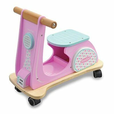 Indigo Jamm Wooden Jamm Scoot, Toy Ride-On Scooter with Retro Classic Design for