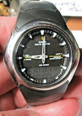 Vintage Mens  Watch By. Casio.wave  Ceptor. Working Ok.