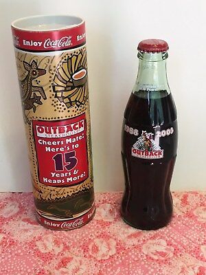 Outback Steakhoue 15 years coke bottle in tube