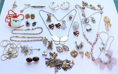 Lot of Vintage Avon Signed Jewelry Necklace Earrings Ring Brooch Lot