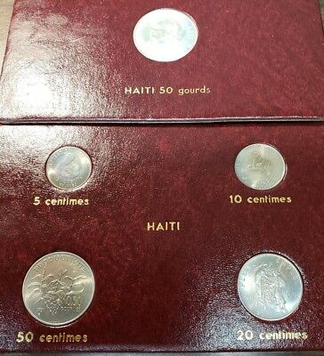 Lot Of 2 Haiti 1981 F.A.O. 5 Piece Coin Collection With Holder