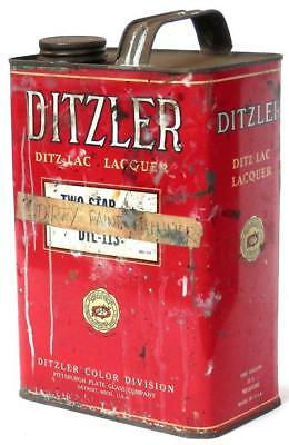 vintage '50s± DITZLER TWO STAR Lacquer Thinner 1-gallon CAN