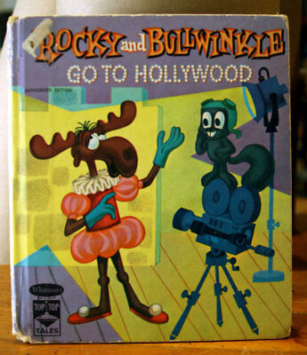 ROCKY AND BULLWINKLE Go to Hollywood 1961 Vintage Children's Book TOP TOP TALES