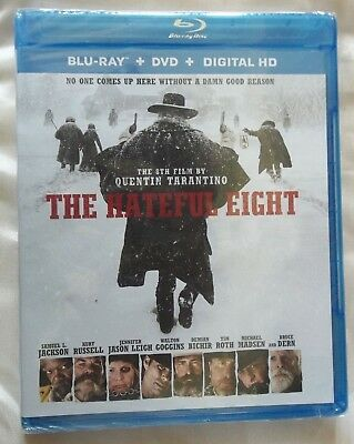 The Hateful Eight Blu-ray DVD, 2016, 2-Disc Set,Digital Copy NEW Sealed