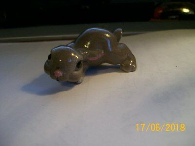 "Gray Rabbit Vintage 3"" Ceramic Bunny Figurine"