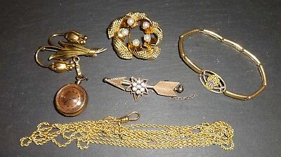 56.5 grams of gold filled antique jewelry & or scrap
