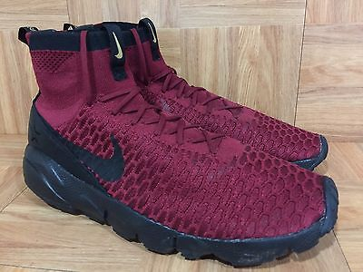 low priced 89238 38b4c RARE🔥 Nike Air Footscape Magista Flyknit FC Team Red Black Potugal Ronaldo  11.5