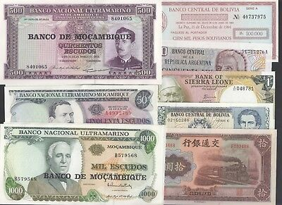 Vintage International Currency Lot of (36) Pieces Argentina China Burma Bolivia