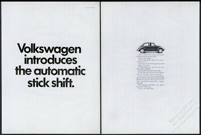 1968 VW Beetle classic Automatic Stick Shift car photo Volkswagen 20x13 ad
