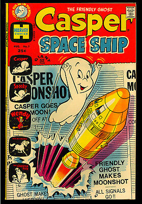 Casper Spaceship #1 High Grade First Issue Harvey File Copy Giant 1972 VF+