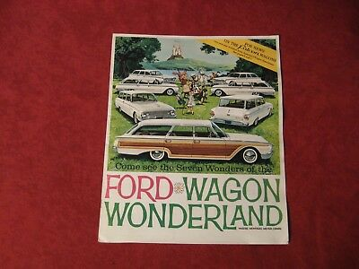 1960 Ford wagon Dealer Brochure old Original Vintage Booklet Showroom book