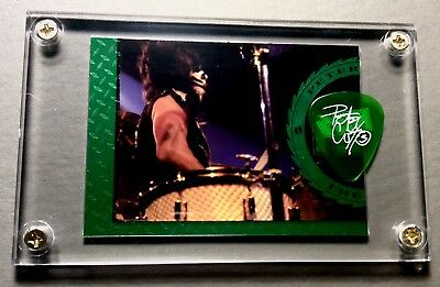 Nice - KISS Peter Criss very limited foil chase card / guitar pick display #F11
