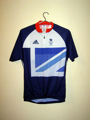 Rare Mens ADIDAS London 2012 GREAT BRITAIN Olympic cycling team jersey Aero L