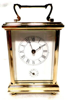 Fantastic Gold Plated Square Case Alarm French Style Carriage Clock--Retail $600