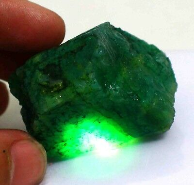 327.35Ct EGL Certified Natural Top Class Green Emerald Rough Gemstone AL2015