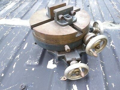craftsman Palmgren Rotary X-Y Cross Slide, Rotary Table 8 Inch. with vise