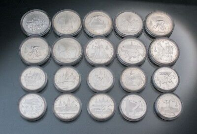1977-1980 Moscow Olympics XXII Olympiad 20 Silver Coins Proof Lot 14+ oz Russia
