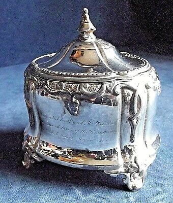SUPERB ~ GOTHIC Style ~ SILVER Plate ~ Tea CADDY ~ c1865 by William Harrison
