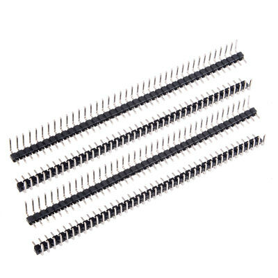 20Pcs 2.54mm Pitch 40P Single Row Curved Connector Pin Header Strip for PCB
