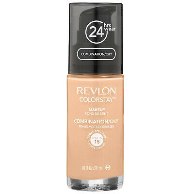NEW Revlon ColorStay Foundation Oily/Combination Skin 220 Natural Beige SPF15 1o