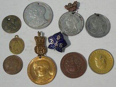Collection of Old Medals and a Badge, Antique & Vintage old lot