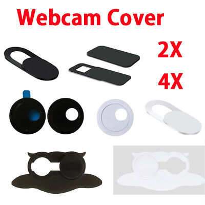 4X 2X Webcam Cover Ultra Thin Camera Slider Protect Shield Sticker - 8 Styles