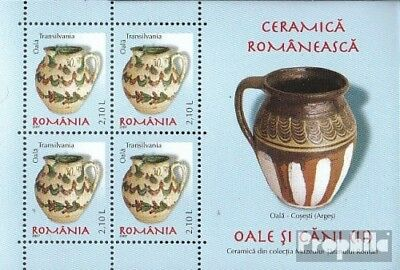 Romania Block412 unmounted mint / never hinged 2007 Romanian ceramics