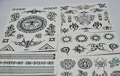 New 50 Twisted Tribal Transfer Temporary Tattoos Boys Savvi 15