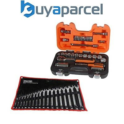 Bahco S240 Socket Set Square Drive 1/2 Drive 24pc with 18pc Spanner Set BAHS240