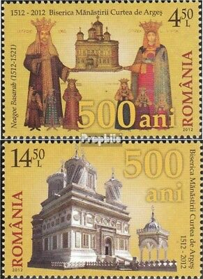Romania 6654-6655 (complete.issue.) unmounted mint / never hinged 2012 500 years