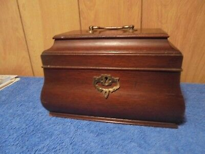 Vintage Virginia Galleries Henkel Harris Mahogany Tea Caddy