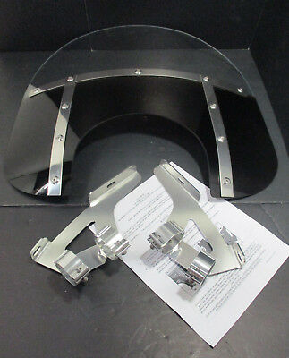 """2004 Victory Vegas Memphis Shades Fats Slim Windshield Kit 13""""-High 9""""-Cut Out"""