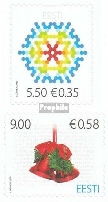 Estonia 649-650 (complete.issue.) unmounted mint / never hinged 2009 christmas