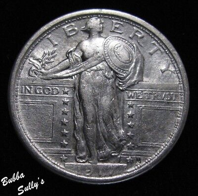 1917 Type I Standing Liberty Quarter <> EXTREMELY FINE