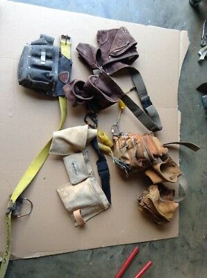 Lot of 4 Iron Workers and Carpenters Tool Belts