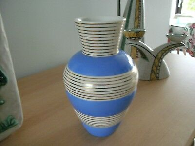 rometti ceramiche umbertide italian art deco vase great design 19cm high