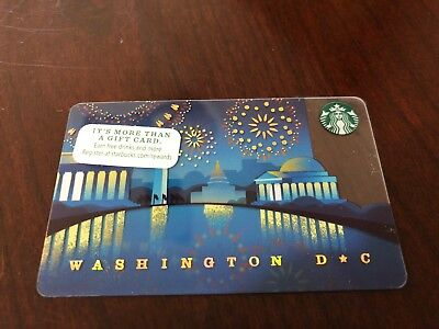 2014 2013 2015 Starbucks Coffee Washington DC Fireworks City Series  Gift Card