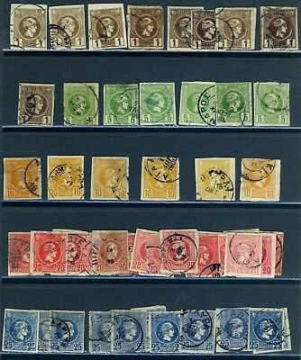 Greece nice early lot used from the 1800-1900's