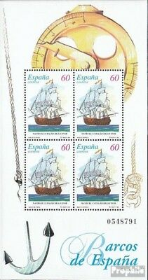 Spain block63 (complete.issue.) fine used / cancelled 1996 Old Sailboats