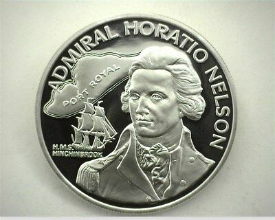 Jamaica 1976-Fm Silver $10 -Admiral Horatio Nelson- Perfect Proof Dcam