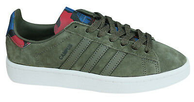 super popular ab30c 0d396 Adidas Originals Campus Mens Trainers Lace Up Shoes Leather Olive BB0077  Opp M10