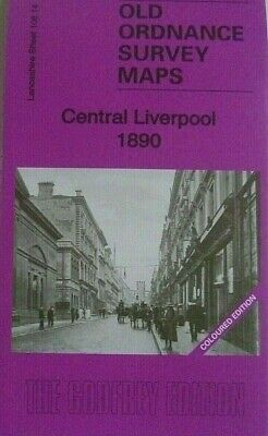 Old Ordnance Survey Detailed Maps Central Liverpool Lancashire 1890 Sheet 106.14