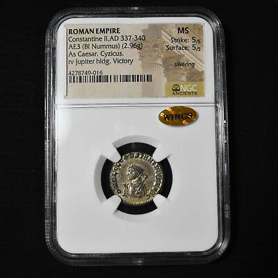 Roman Empire, Constantine Ii Ad276-282, Bi Ae3 , Ric 862, Ngc Ms 5/5, Wings Gold