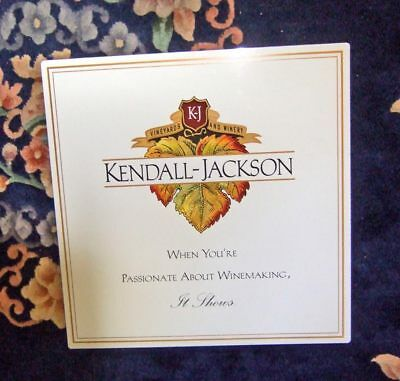 """Kendall-Jackson Vineyards & Winery metal sign~18""""x18""""~exc.cond."""