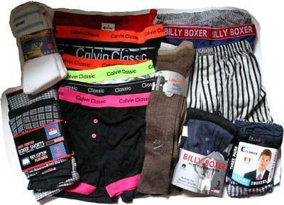 JOB LOT clearance MENS underwear 18 boxers 6 prs socks wholesale clearance shop
