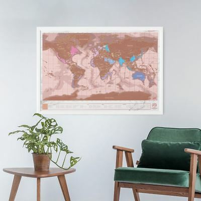 Scratch Map Rose Gold Luckies Large Travel Scratch Off World Wall Map Luxury