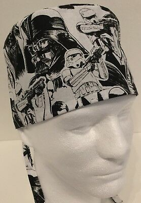Star Wars Medical Surgical Surgery OR Skull Scrub Hat Chemo Cap